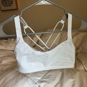 LULULEMON white sports bra size 6